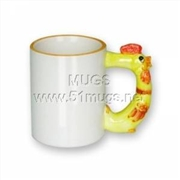 供应11oz 动物杯-鸡 热转印生肖杯 个性马克杯 热转印陶瓷杯