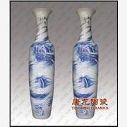 供应陶瓷大花瓶,青花手绘陶瓷大花瓶,高档工艺礼品陶瓷大花瓶