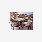 供应丹藤翠蔓藤器F-085藤椅水草藤木咖啡椅