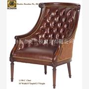 供应广东传统中式风格古典布艺沙发 实木雕刻布艺单人椅子 精品布艺休闲椅