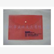 供应红色透明按扣袋,PP文件袋加工定做,企业定做按扣袋