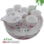 供应景德镇青花瓷粉彩瓷茶具套装 茶具礼品