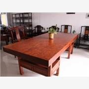 供应信息花木兰木雕非洲菠萝格非洲菠萝格大板/休闲茶桌/餐桌