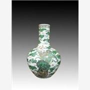 供应订做手绘粉彩瓷天球瓶,客厅摆设品,家居礼品天球瓶