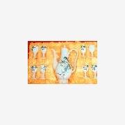 供应批发陶瓷酒具,高档礼品陶瓷酒具,手绘青花陶瓷酒具,传统酒具