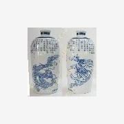 供应厂家生产供应陶瓷酒具,陶瓷酒瓶,青花陶瓷酒具,中国红陶瓷酒瓶