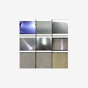 杭州不锈钢平板,提供磨砂拉丝镜面镀钛加工