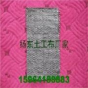 土工布采用专用土工布缝纫机进行双线缝合连接扬东土工布有限公司