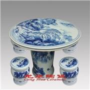 供��青花瓷桌凳,家居�@林�b�品,景德�陶瓷桌凳
