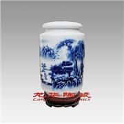 供应陶瓷茶叶罐定做厂家,景德镇青花瓷茶叶罐