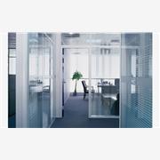 供应上海意昀YYD双层玻璃隔墙/成品隔断/双层磨砂