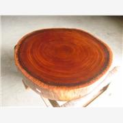 供应原木根雕A0101实木圆盘实木餐桌茶台实木大板非洲菠萝格大板花梨木进口原木大