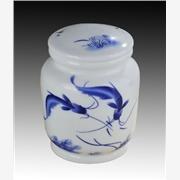供应高档陶瓷茶叶罐批发,景德镇青花瓷