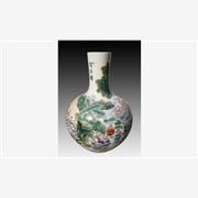 供应订做手绘粉彩百子图天球瓶