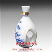 1斤装高档陶瓷酒瓶批发定做厂家