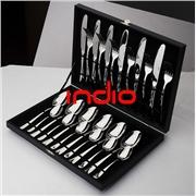 供应银貂木箱刀叉勺木箱套装刀叉勺 不锈钢礼品套装餐