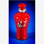 500ML圆口红釉陶瓷酒瓶