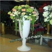 成都玻璃钢月光杯花瓶 特大树脂花瓶白色月光杯路引雕塑饰品摆件