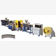 塑料螺纹彩塑管材生产线,山东华磊专业制造塑料管材设备