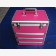 供应时尚四层红色化妆箱、铝合金化妆箱/佛山祥升箱包制品