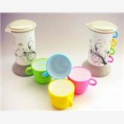 供应供应防尘冷热壶 广告套杯 塑料杯 套装水壶 五合一套杯
