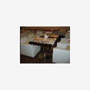 供��餐�d家具餐桌餐椅卡座沙�l�A弧沙�l